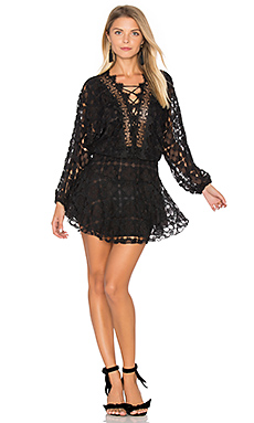Cicci Lace Mini Dress in Black