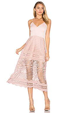 Alice Crochet Dress in Blush