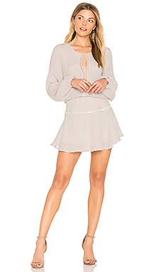 Titti Solid Mini Dress in Silver
