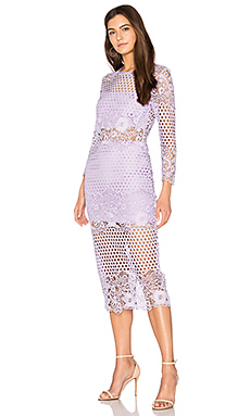 Shell Lace Dress in Lavender