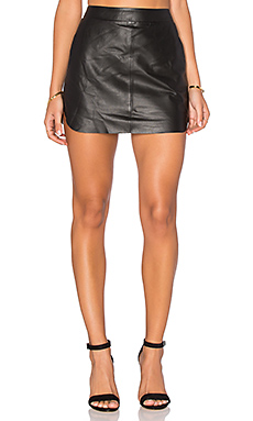 Jacob Leather Skirt in Black