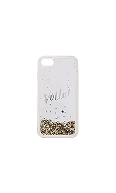Liquid Glitter Viola iPhone 7 Case – 金色 & 透明