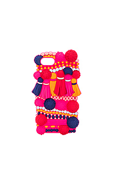 COQUE IPHONE7 SILICONE POMPOM