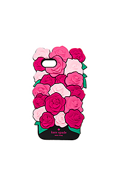 Silicone Roses iPhone 7 Case in Pink Multi