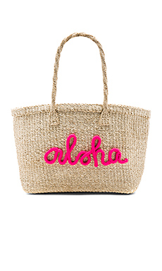 x REVOLVE Aloha Tote Bag in Hot Pink