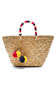St Tropez Tote Bag in Red, White, & Navy