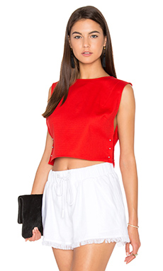 Sleeveless Pierced Top en Grenadine