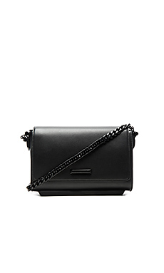 Adley Shoulder Bag in Black Smooth Leather