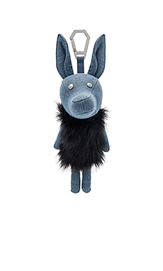 Norman Denim Dog Charm en Placid Blue Denim