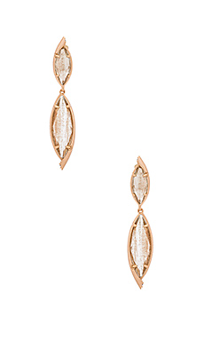 Maisey Hourglass Earring – Gold Dusted Glass