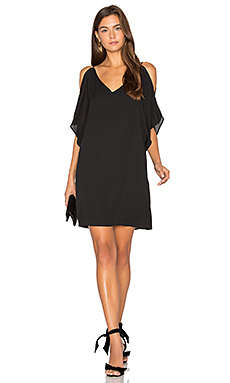 Split Sleeve Slip Dress in Black