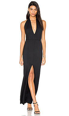 Open Halter Back Dress en Noir