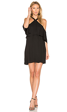 Off Shoulder Halter Dress en Noir