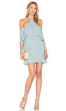 Off Shoulder Halter Dress en Brook