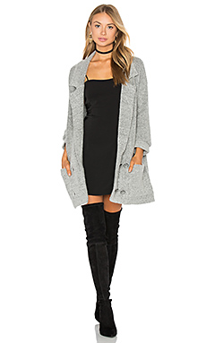 El Captin Sweater Coat in Heather Grey