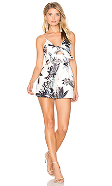 Coming Home Romper in Abstract Floral Print