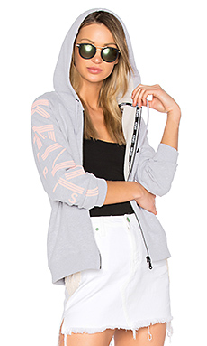 Light Brushed Molleton Hoodie en Gris Perle