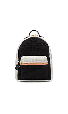 Neoprene On Denim Eyes Backpack in Noir