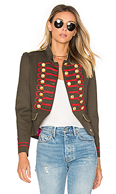 Condesa Beatle Jacket in Green & Red