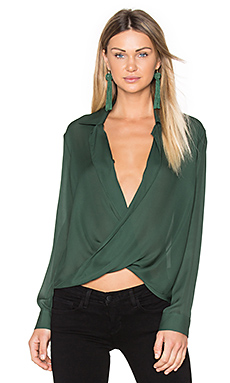 Rita Blouse en Hunter Green