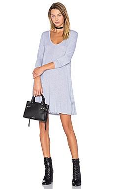 Lily Scoop Dress in Heather Grey