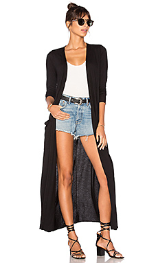Reed Duster Cardi in Black
