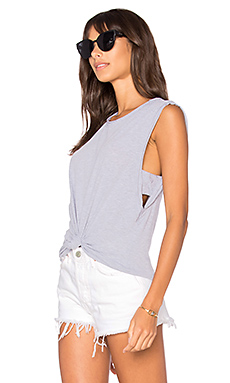 Venice Muscle Tank in Heather Grey