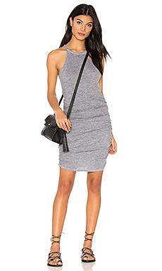 Ruched Halter Dress en Heather