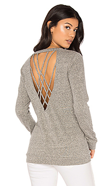 Strappy Back Pullover en Heather