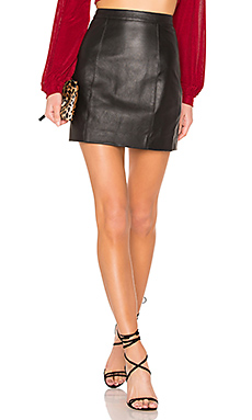 The Leather Mini Skirt in Black