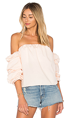 x REVOLVE The Puff Sleeve Blouse – 桃红色