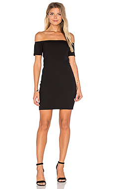 Cecil Off Shoulder Dress in Black
