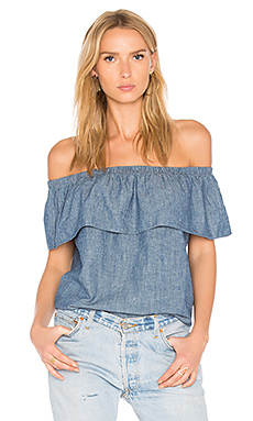 Ruffled Top in Medium Authentic