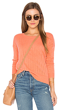 Open Stitched Sweater en Corail Chiné
