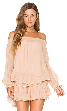Smocked Peplum Top en French Rose