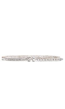 Skinny Link Hip Belt in Metallic Silver