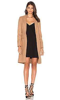 Donatella Short Winter Coat en Camel