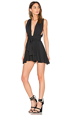 Copacabana Linen Romper in Black