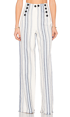 Halima Sailor Pant en Bleu
