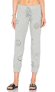 Kizzy Stitched Elements Sweatpant en Gris Chiné