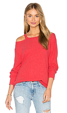 Bolero Cut Out Sweater en Rouge