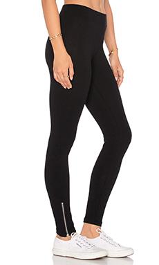Leggings  taille moyenne à glissières en Flat Black