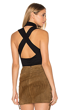 Cross Back Element Top en Noir