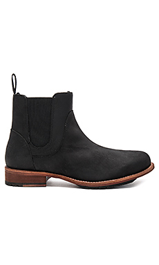 Evelyn Sheep Shearling Booties en Noir