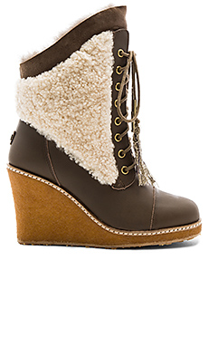 Meditere Sheep Shearling Boot in Mortar
