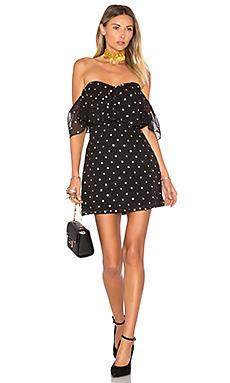Lush Dress in Gold Dot