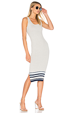 Julia Dress in Sky Border Stripe