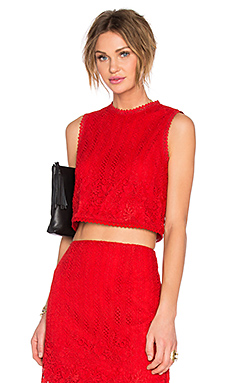 x REVOLVE Love Escape Top en Rouge