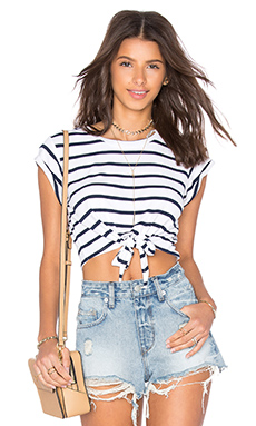 Abigail Top en Navy Stripe
