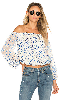 Oh Girl Top en Speckled Ocean
